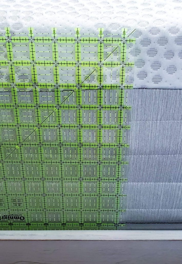 Measuring a mattress to size a quilt